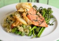 Roast Trout with Sautéed Apples and Basil