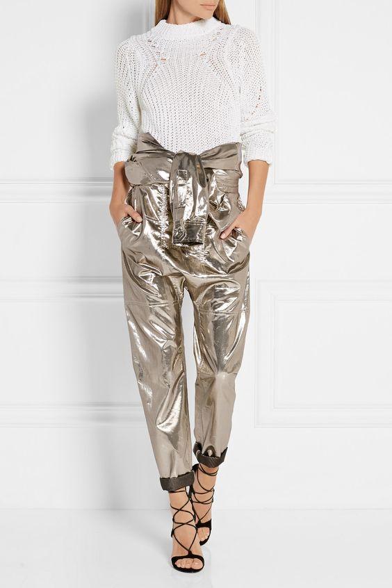 Isabel Marant | Combi-pantalon en lamé de soie mélangée Nubia | NET-A-PORTER.COM