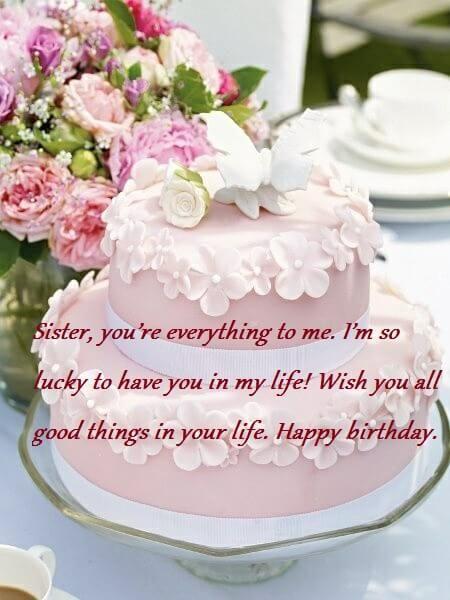 Sweet Birthday Cake Wishes Messages For Sister Met Afbeeldingen
