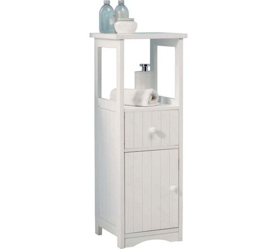buy home tongue and groove bathroom 2 drw storage unit white at