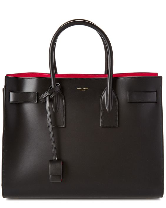Saint Laurent Large Sac De Jour Leather Tote: