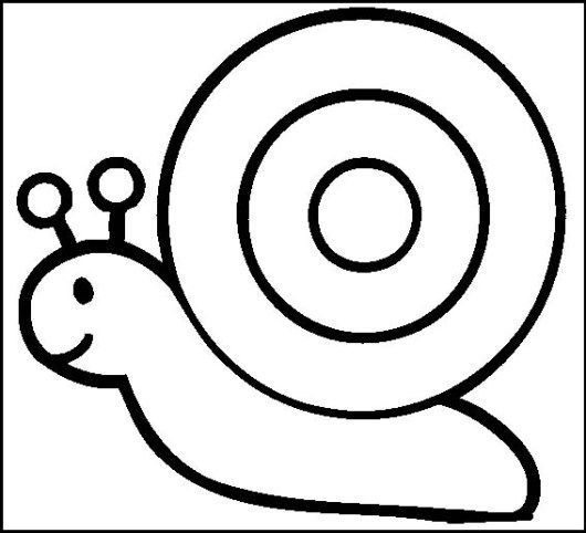Simple Snail Coloring Page For Toddlers Hewan Sketsa Warna
