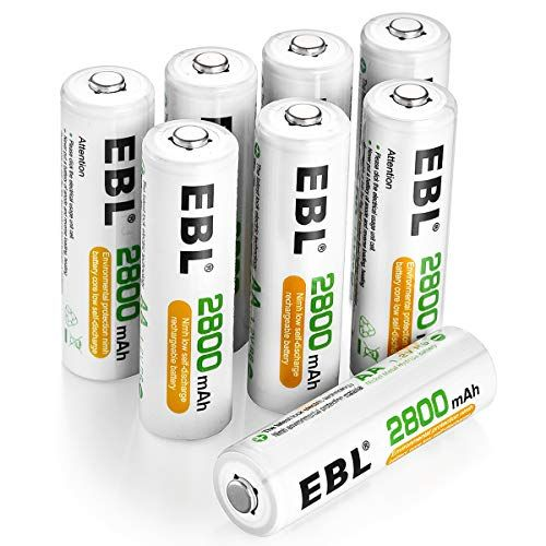 Ebl Pack Of 8 Aa Batteries 2800mah High Capacity Precharged Ni Mh Aa Rechargeable Batteries Rechargeable Batteries Aaa Battery Charger Batteries