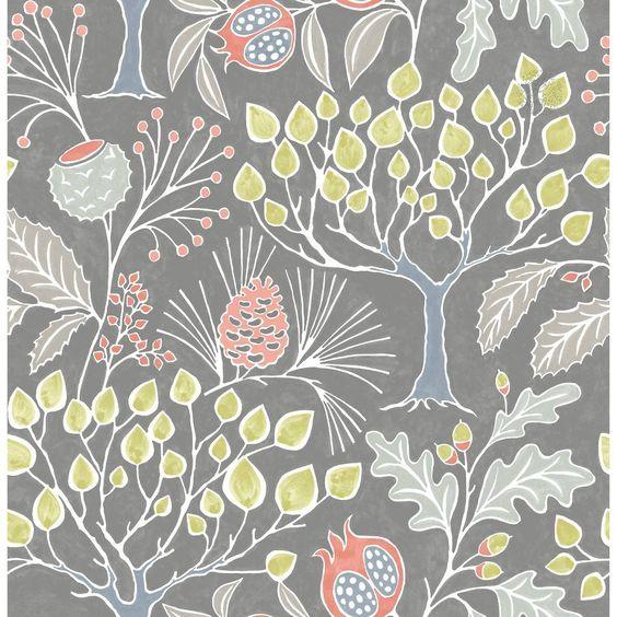 Nuwallpaper Blue Florentine Tile Peel Stick Wallpaper Walmart Com In 2021 Nuwallpaper Grey Wallpaper Botanical Wallpaper