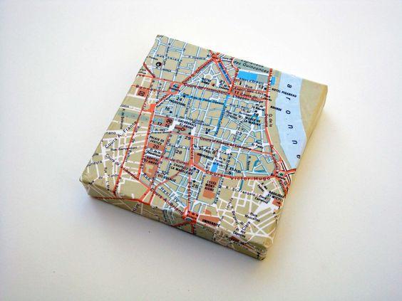 Bordeaux Map on Canvas. $14.00, via Etsy.