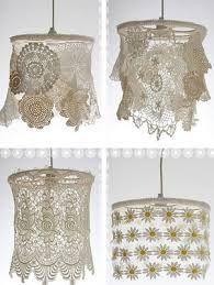 Resultado de imagen para pantallas para lamparas de crochet