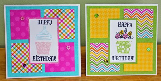 Happy Paper Craft Happenings: One Sketch, Four Cards