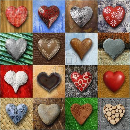 4 X 4 = 16 pretty HEARTS
