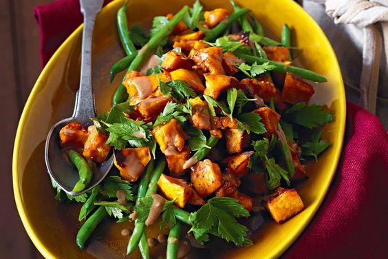 Roast pumpkin with green beans & balsamic dressing | Recipe | Balsamic ...