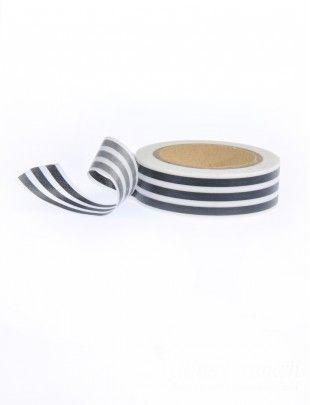 Papier :: Streifen :: Schwarz längs breit