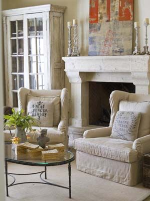chairs (and fireplace)