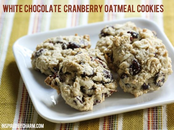 White Chocolate Cranberry Oatmeal Cookies // Fall Cookie Week ...