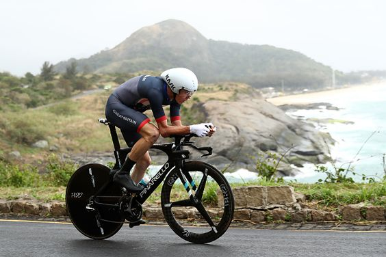 Team GB's cyclist admiring Rio's scenery during the Road Road