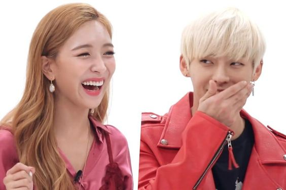 "Watch: f(x)'s Luna And BTOB's Minhyuk Look Back On Their Debut Performances On ""Weekly Idol"""