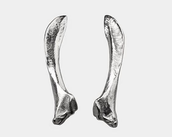 NEW! Ug. sp. n°5 - earcuffs size: 10/53 mm - weight: 6 g each materials: silver picture: Lucile Dizier #espèces #especesjewellery #silver #earcuffs #scapula #bird #jewellery #madeinbelgium #fw15 Available at #STIJL in Brussels.