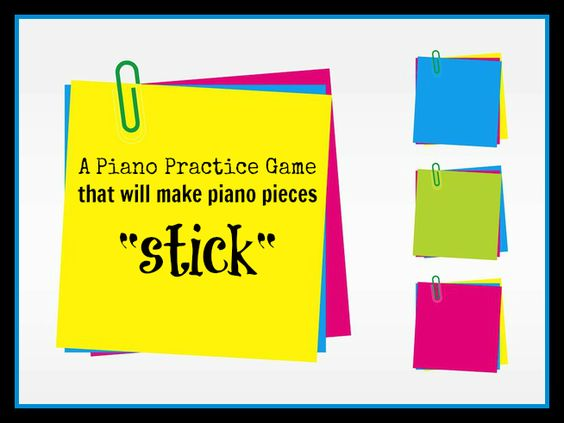 Such a simple piano teaching game to set-up - I can do this today no problem... students will love this!