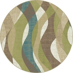 Tayse Rugs, Deco Ivory 7 ft. 10 in. Transitional Round Area Rug, DCO1012 8RND at The Home Depot - Mobile