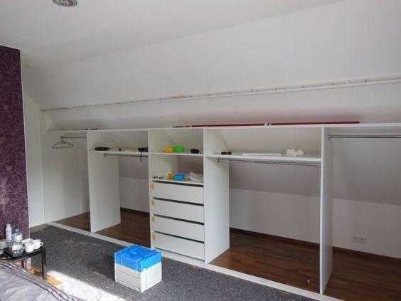 KLEIDERSCHRANK II Dachboden ausbau Pinterest Attic, Attic - schlafzimmer ideen dachschräge