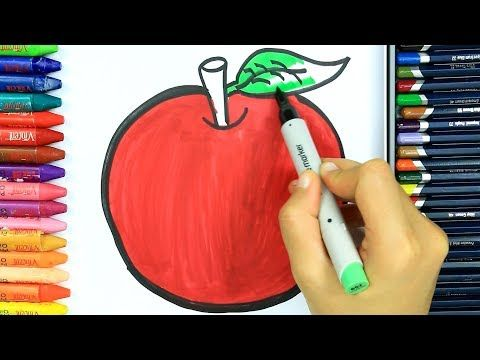 Yabloko Raskraski Kak Risovat Yabloko Izuchite Okrasku Youtube Crafts