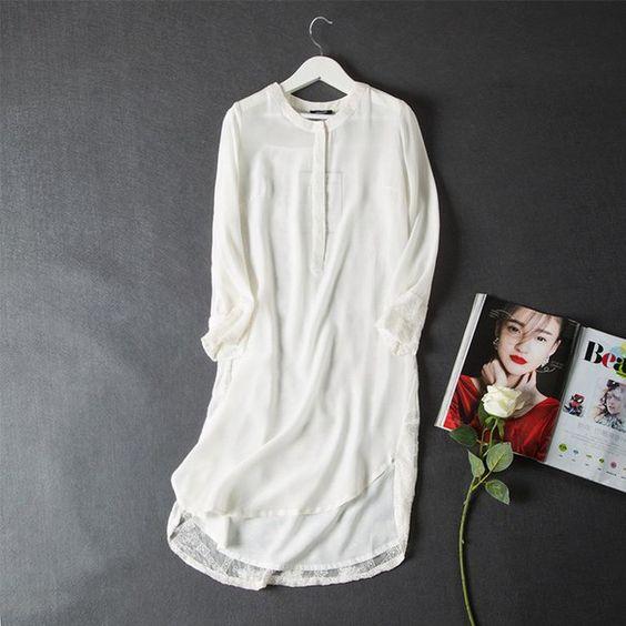 Белое шелковое платье на лето Ссылка:  http://ali.pub/d5fge