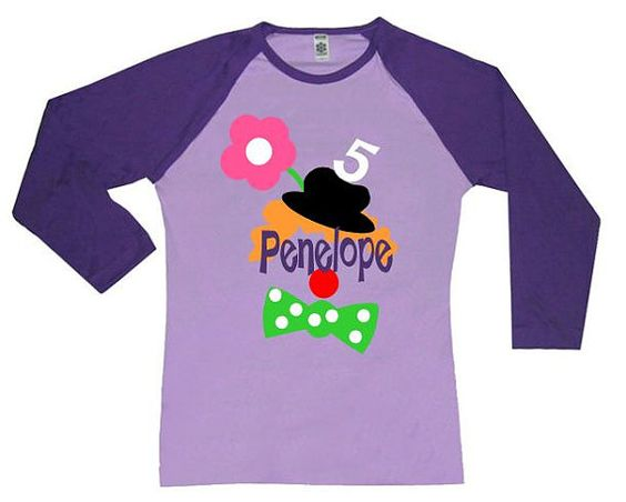 Circus Birthday Shirt Personalized Raglan by personaliTEEshop, $25.00