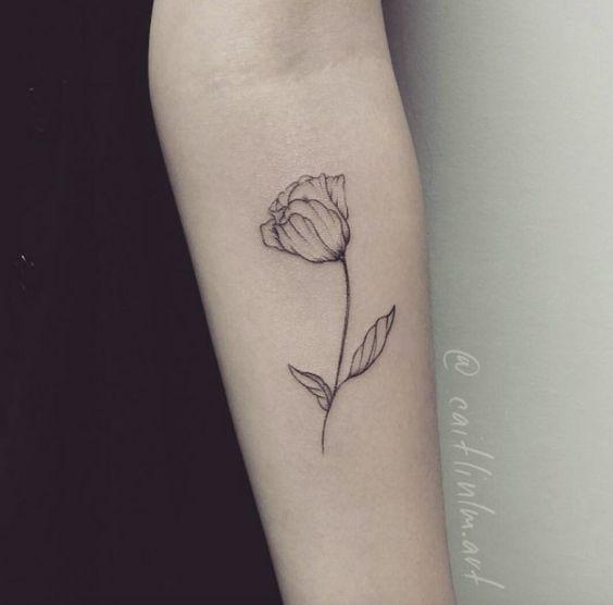 Line Art Flower Tattoos : Pinterest the world s catalog of ideas