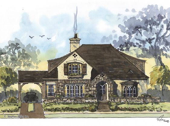 House plans parks and house on pinterest for Brentwood house plan