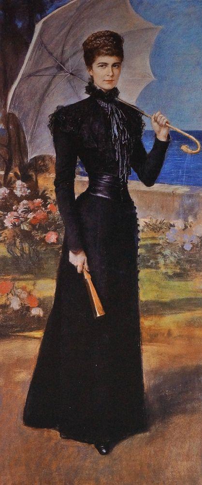 """Empress Elizabeth ______________________________ Friedrich August von Kaulbach """"Kaiserin Elisabeth auf Korfu"""" Vienna 1898 @ Hofmobiliendepot Möbel Museum Wien:"""