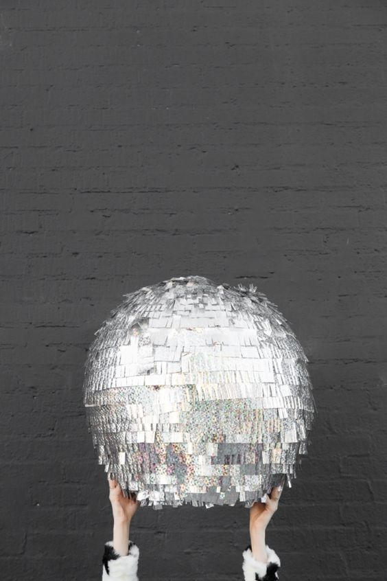 DIY Disco Ball Piñata - Perfect for a New Year's Eve party!