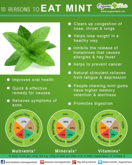 #Health Benefits of Mint - http://www.myeffecto.com/r/4zn_dt: