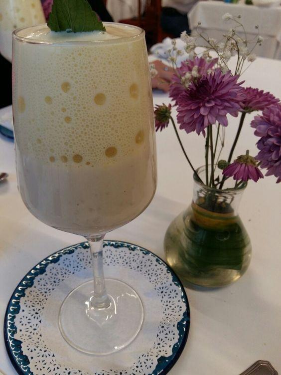 Arroz con leche y espuma de canela, en Nicos restaurante en México.