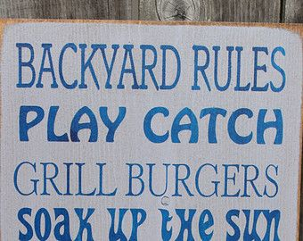Items similar to CUSTOM COLORS, Porch Rules, Rustic, Primitive, Subway Art, Typography, Distressed, Sign, Decor on Etsy
