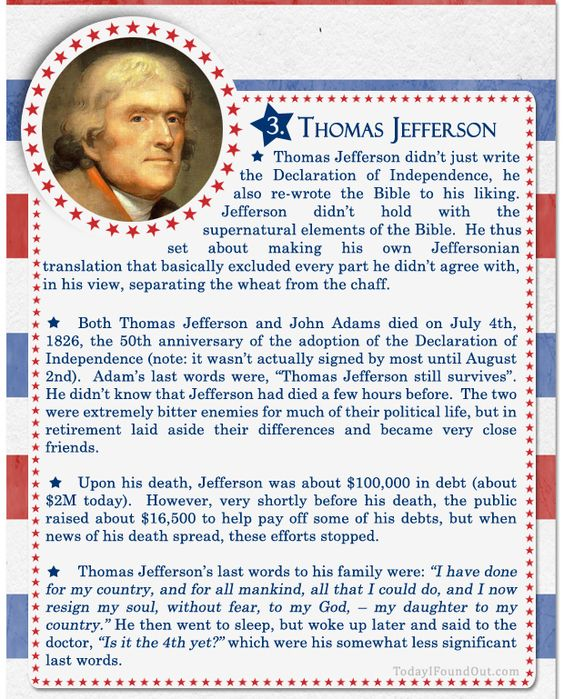thomas jefferson and bill clinton essay Bill clinton was born william jefferson blythe iii on august 19, 1946, in hope, arkansas his father, an automobile-parts salesman, died in a car accident three months before bill was born his mother, virginia cassidy, married roger clinton, an automobile dealer, when bill was seven years old the .