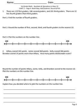 math worksheet : 3 nbt 1 3 nbt 2  mon core  rounding addition and subtraction  : Rounding Addition Worksheets