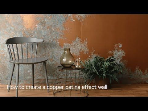 How To Create A Copper Patina Effect Wall Youtube Craig And Rose Paint Gold Painted Walls Copper Diy