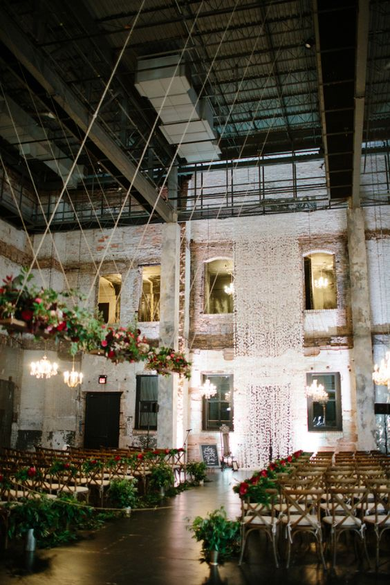 this couple planned the ultimate indoor garden party