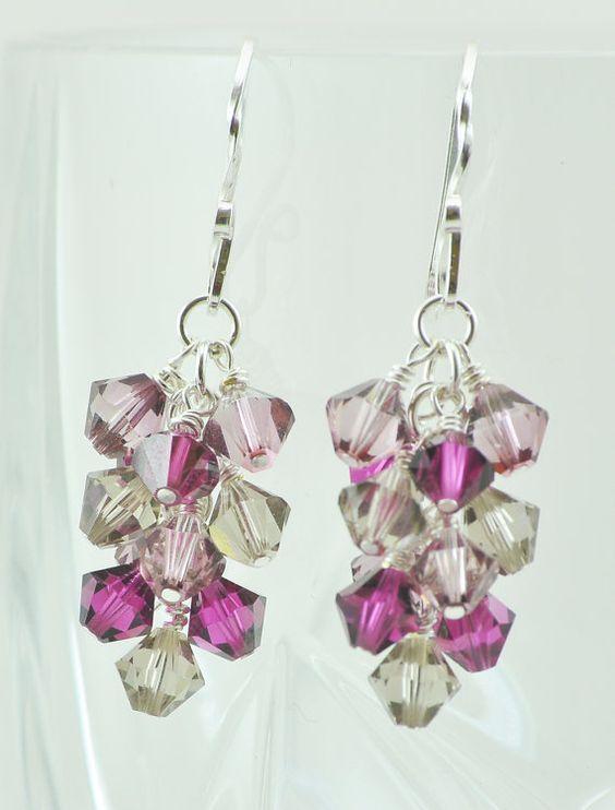 Cuelga aretes pendientes de cristal de Swarovski por JAMJewelryShop