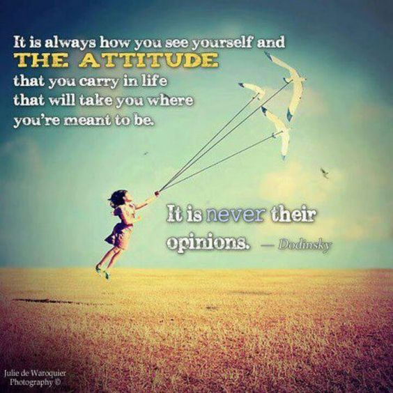So true. The ONLY opinion that counts is the one and ONLY GOD !