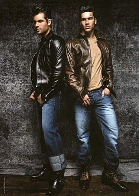 tough guy greaser chic, mens fashion style