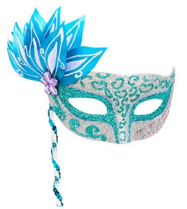 Antifaz para quincea era en color turquesa fiesta - Como hacer color turquesa ...