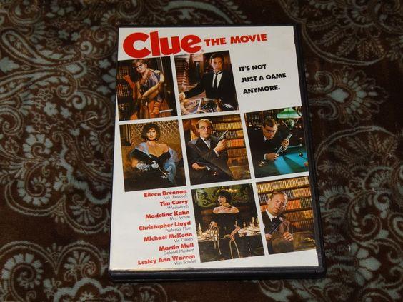 Clue (DVD, 2008) Cult 1985 Tim Curry/Christopher Lloyd Murder Mystery Comedy!
