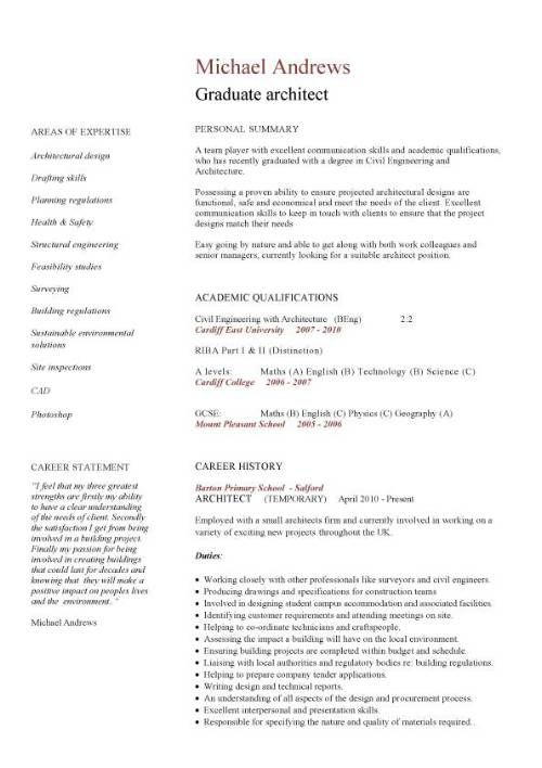 68 Beautiful Images Of Resume Templates Just Graduated Architect Resume Cv Template Student Student Jobs