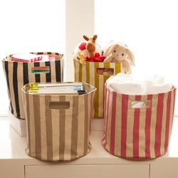 Pehr Striped Canvas Bin (See Jane Work).