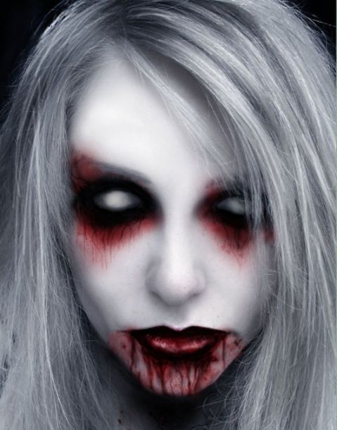 bing images of white christmas costumes | Scary Halloween Makeup | 20 Scary Halloween Makeup Ideas for Horror ...