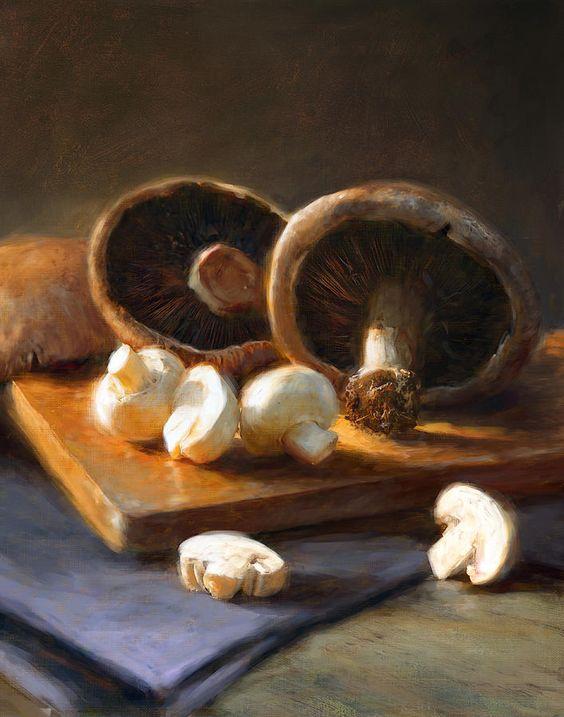 Mushrooms Painting  - Mushrooms Fine Art Print