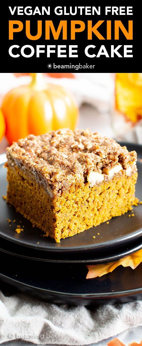 Vegan Gluten Free Pumpkin Coffee Cake Recipe Healthy Trong 2020