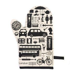 Ofen-Handschuhe London Schwarz jetzt auf Fab.