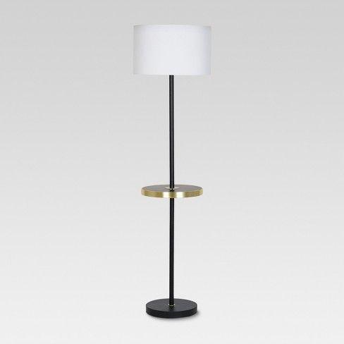 Shelf With Usb Stick Floor Lamp Brass Threshold Floor Lamp With Shelves Brass Floor Lamp Lamp