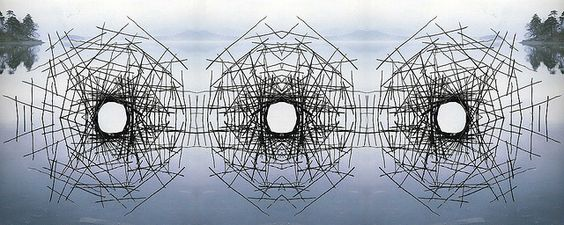 Andy Goldsworthy - Montage by iuri - Sticks Framing a Lake (2560x1024) by iurikothe, via Flickr