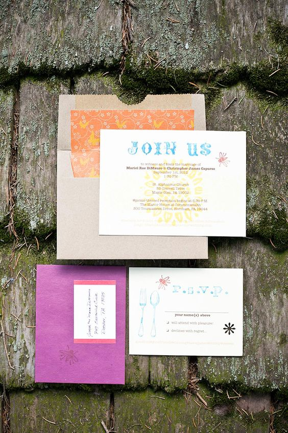 A Colorful Handmade Wedding